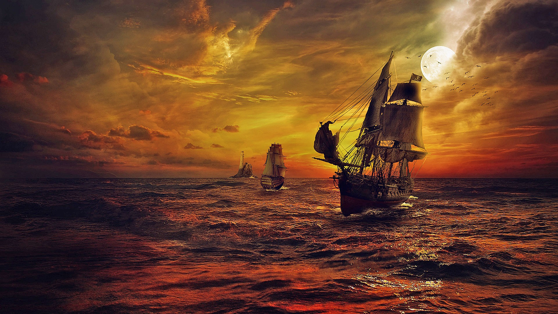 PIRATE SHIPS ( DeskScapes )