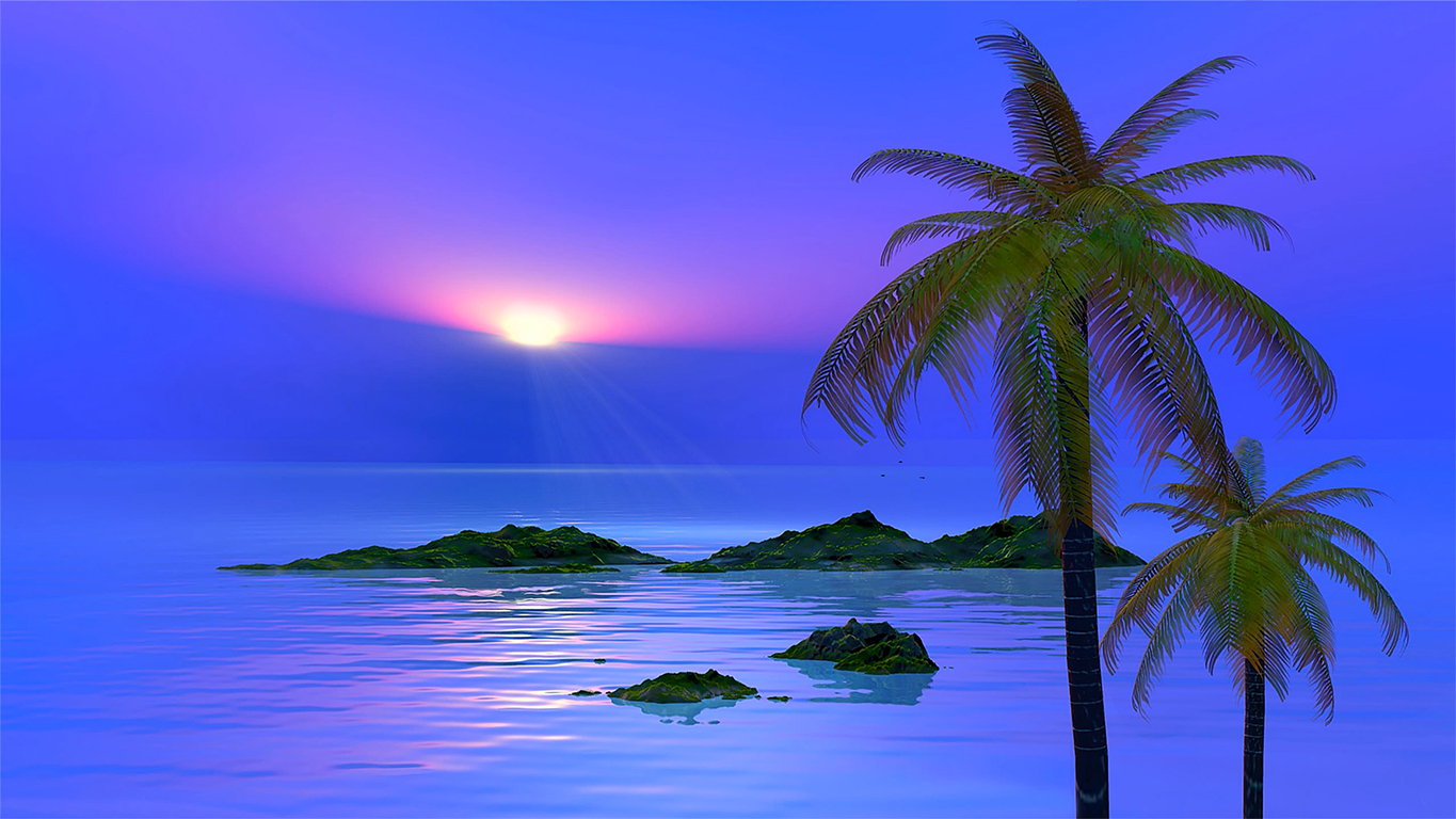 Calm Tropical View   ( DeskScapes )