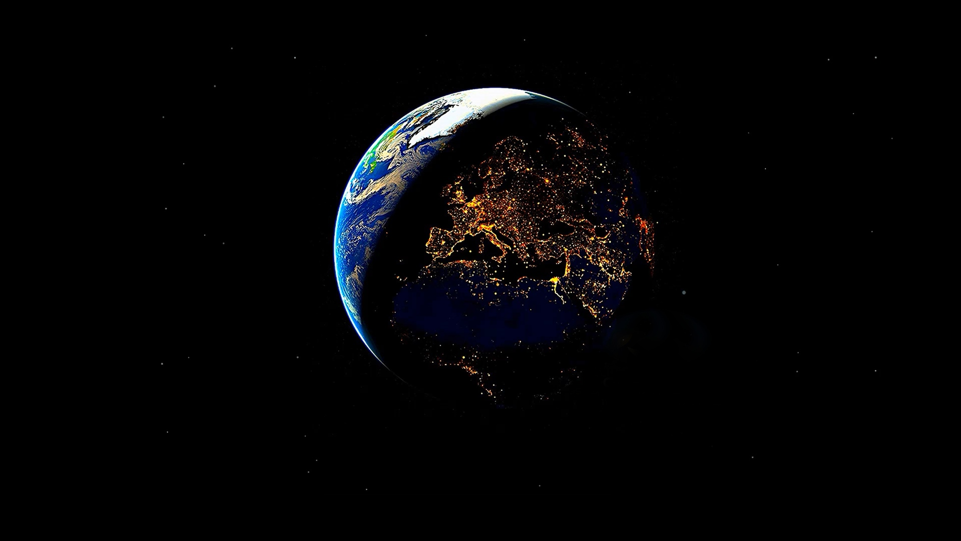 EARTH DAY and NIGHT ( DeskScapes )
