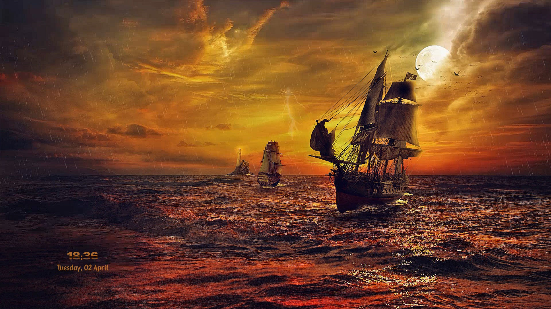 PIRATE SHIPS ( RainWallpaper )